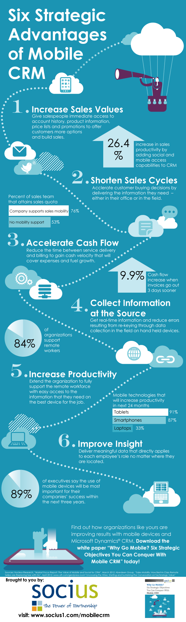 Mobile CRM Infographic