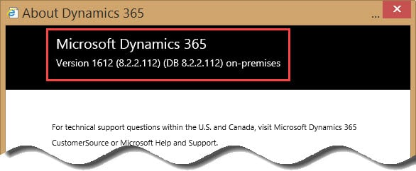 How to Determine Your Version of Microsoft Dynamics CRM