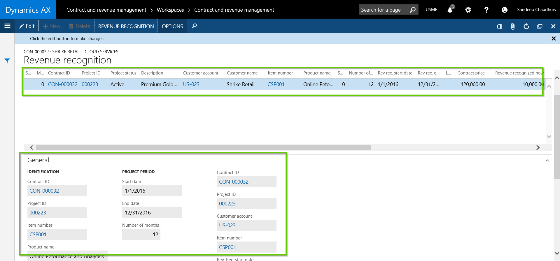 Revenue Recognition Details for Dynamics AX with AXIO