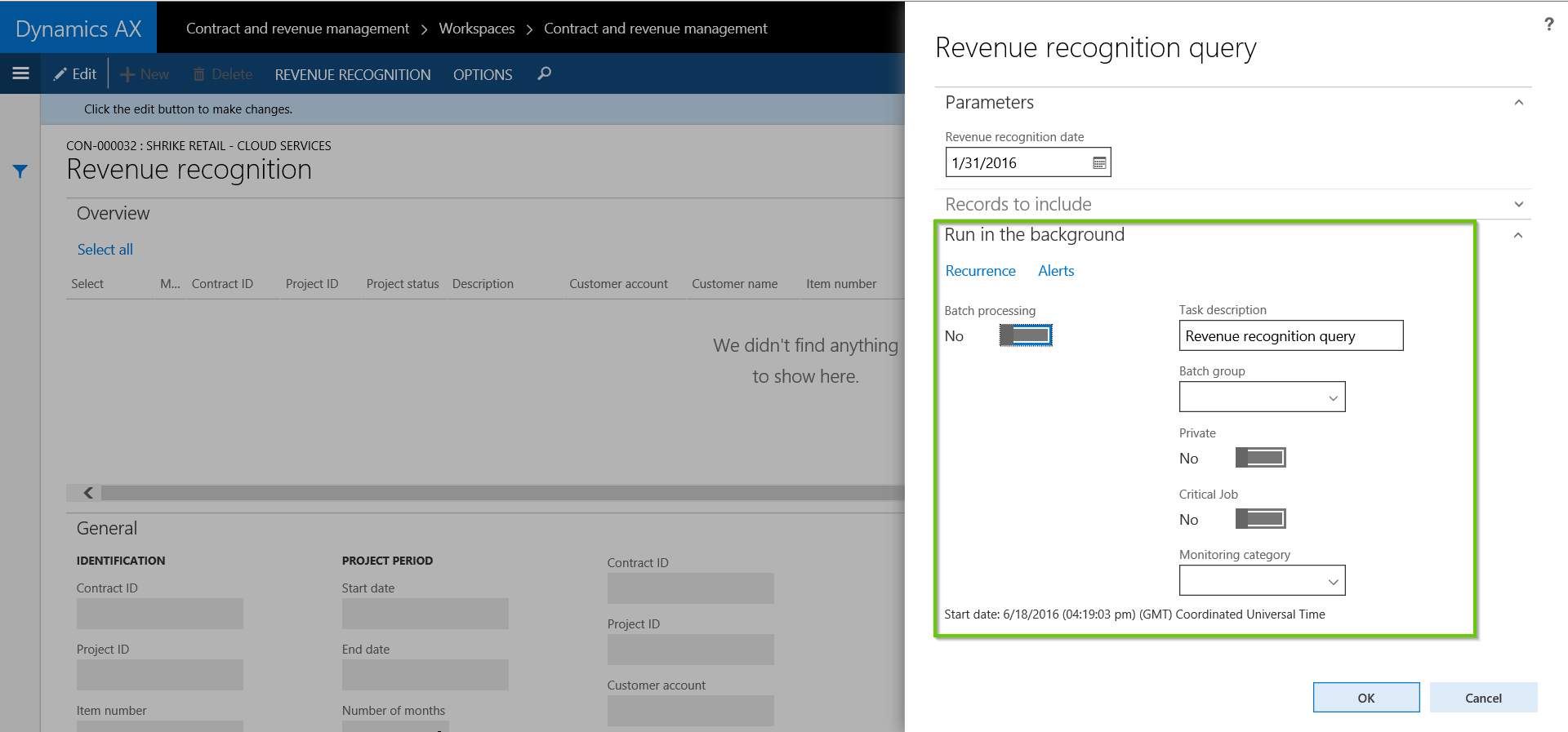 Run AX Revenue Recognition Automatically in Batch with AXIO Professional Services