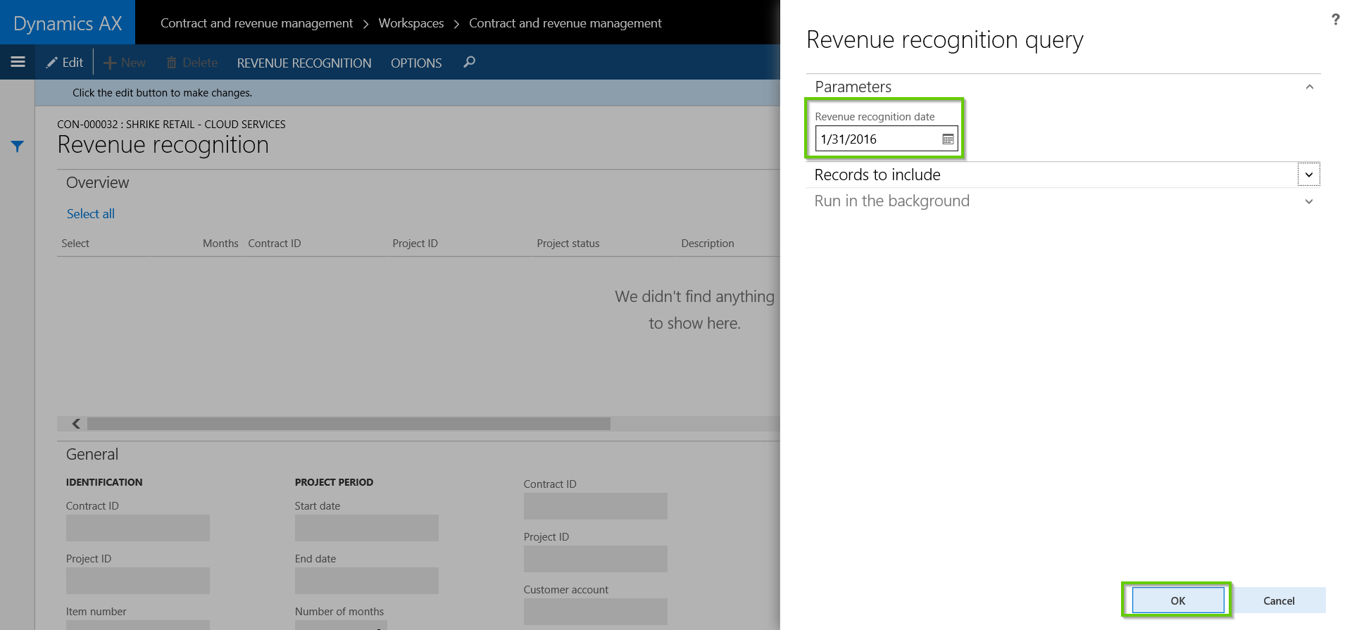 Run Revenue Recognition Process with AXIO for Dynamics AX