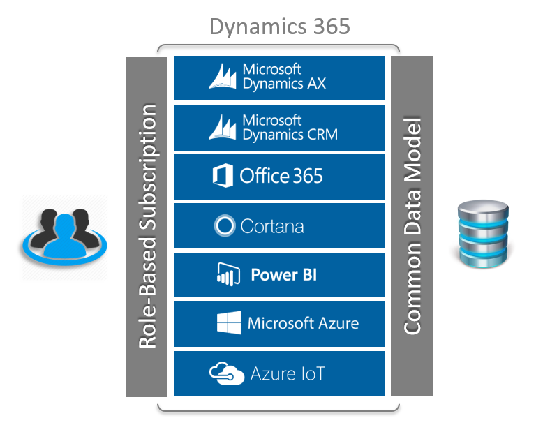 Common Data Model and Role-Based Subscription for products bundled in Dynamics 365