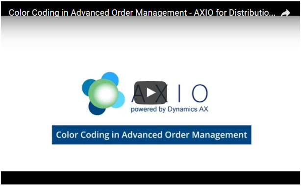 axio for distribution order management