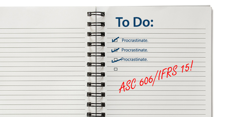 Reminder for ASC 606 and IFRS 2015