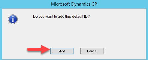 Dynamics GP build batch default ID option