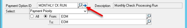 Dynamics GP delete a payment option ID