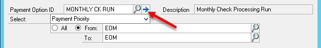 Dynamics GP delete a payment option ID