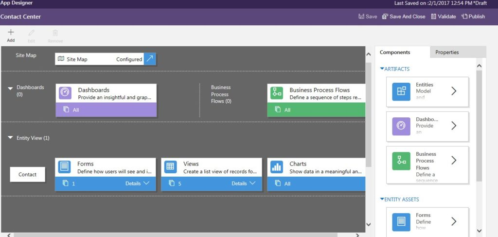Dynamics 365 Customer Engagement interface