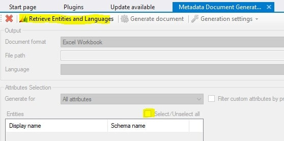 CRM retreieve entities and languages
