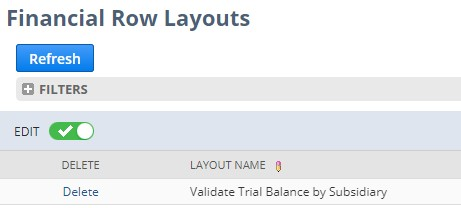 NetSuite custom reports row layouts
