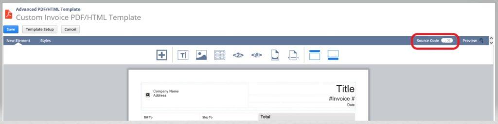 NetSuite advanced PDF HTML templates