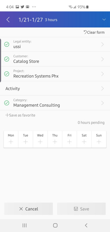 dynamics 365 for finance and operations mobile project management