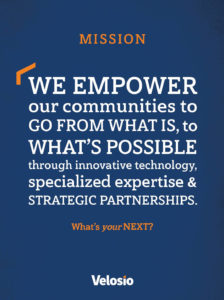 Velosio mission statement