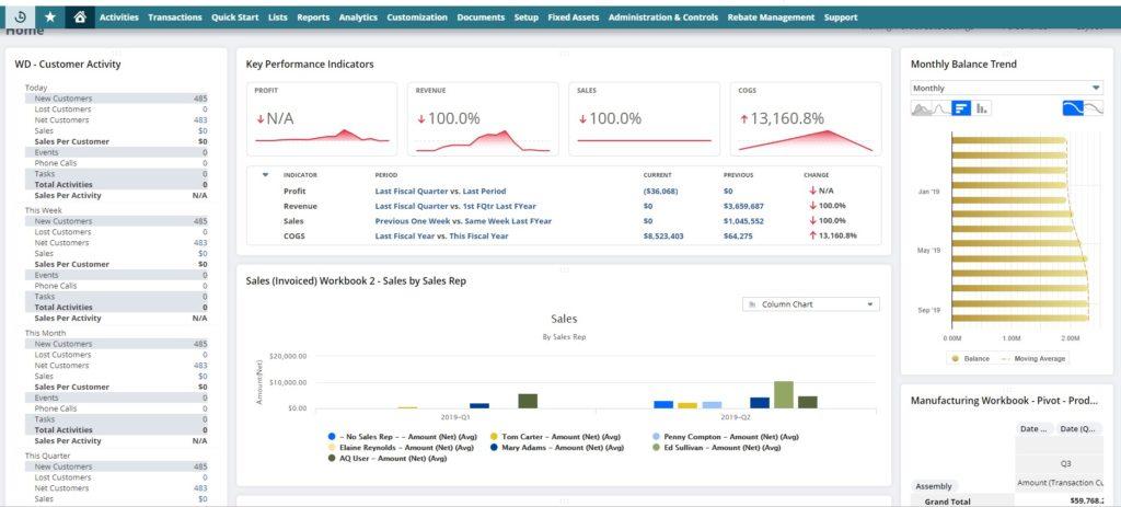 NetSuite analytics