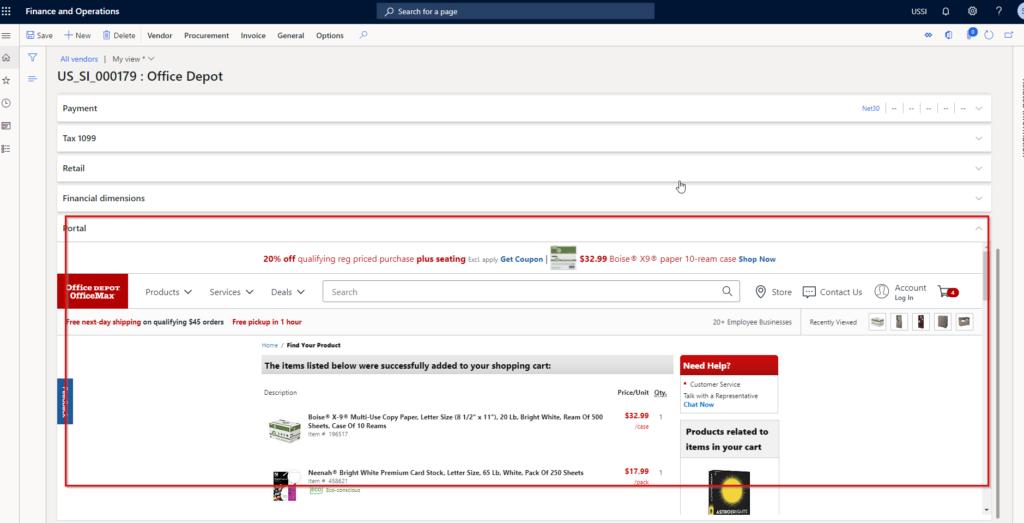 Microsoft Dynamics 365 Finance new fast tab feature