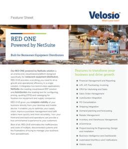 Software for restaurant equipment distributors
