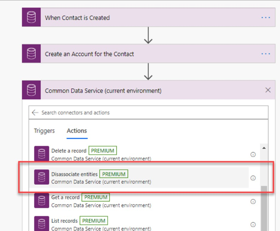 microsoft power automate common data service