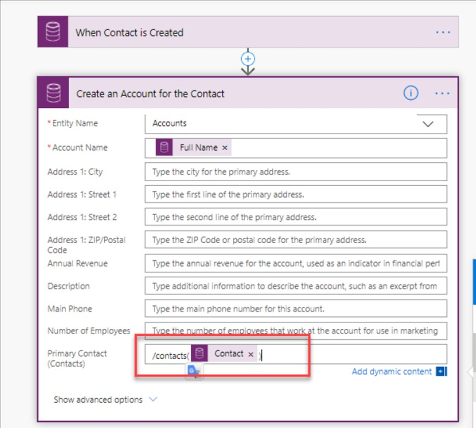 microsoft power automate create account