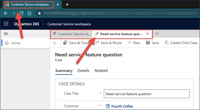 dynamics 365 customer service workspace